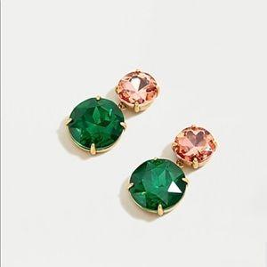 J.crew two gem drop earring